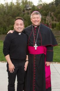 Bishop Stika and Father Leo, the Cooking Priest.