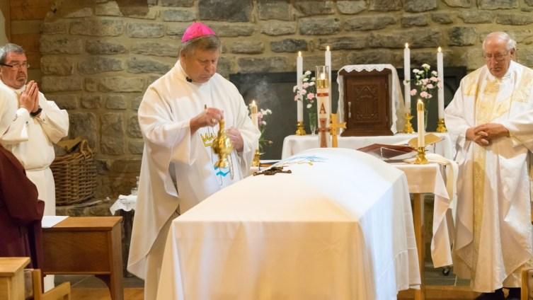 Bishop Stika incenses Sister Mel Pierre