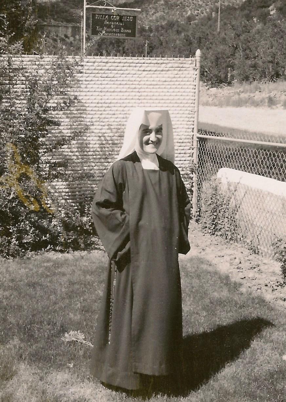 Sister Rose Anne of Jesus at Villa Cor Jesu in Jemez Springs, NM July 22, 1966