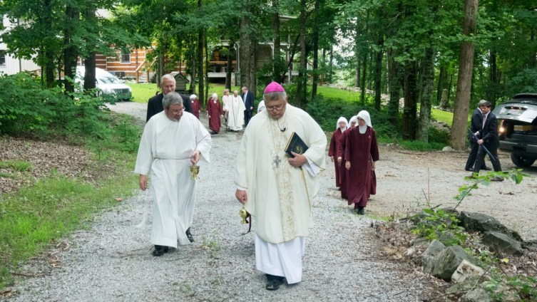 Our Shepherd leads the flock to Blessed Sacrament Cemetery