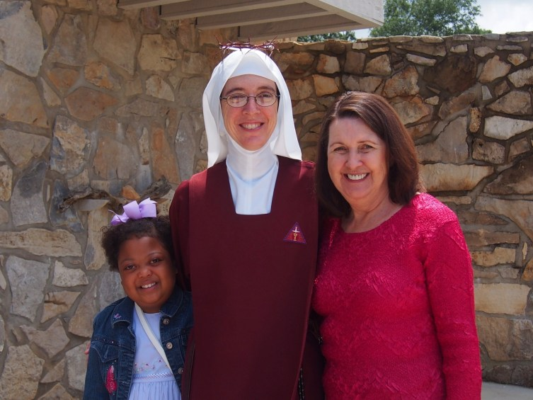 Sister Christiana with her Mom Sandy and sister Sunny