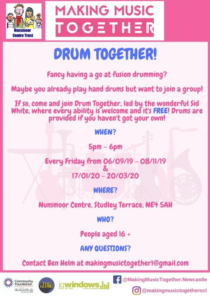 Drum Together Poster web size