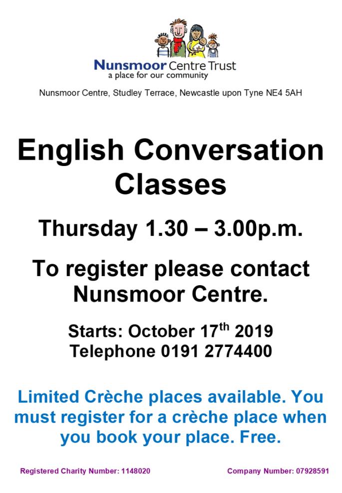 Poster English Conversation THUR 2019