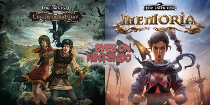 Cover con Satinavs Ketten und Memoria sowie Logo von Eyes on Nintendo
