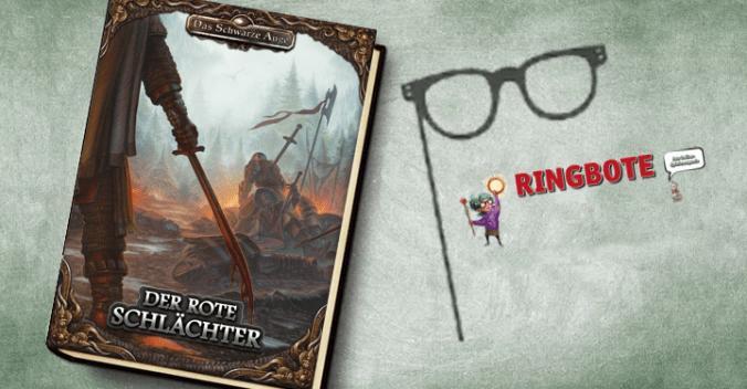 """Cover von """"Der rote Schlächter"""" und Logo des Ringboten"""