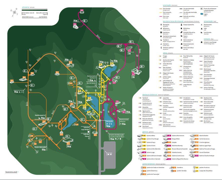 Mapa | O que fazer em Inhotim