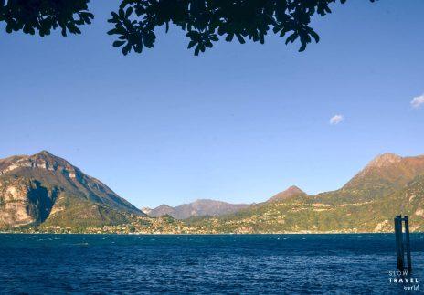 Lago di Como | Vista com alpes