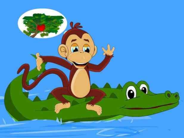 Truyện cho bé số 3. Khỉ và cá sấu