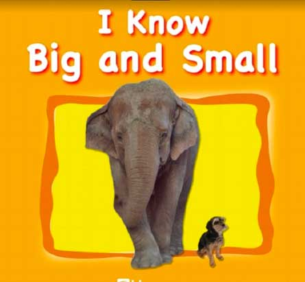 3. Sách tiếng Anh cho bé 3 tuổi học học toán cơ bản: I Know Big And Small