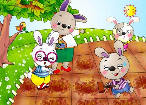 Tranh truyện cây rau của thỏ út số 1