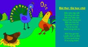 bài thơ gà học chữ