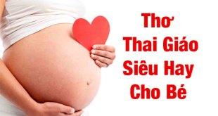 Thơ Thai Giáo Cho bé
