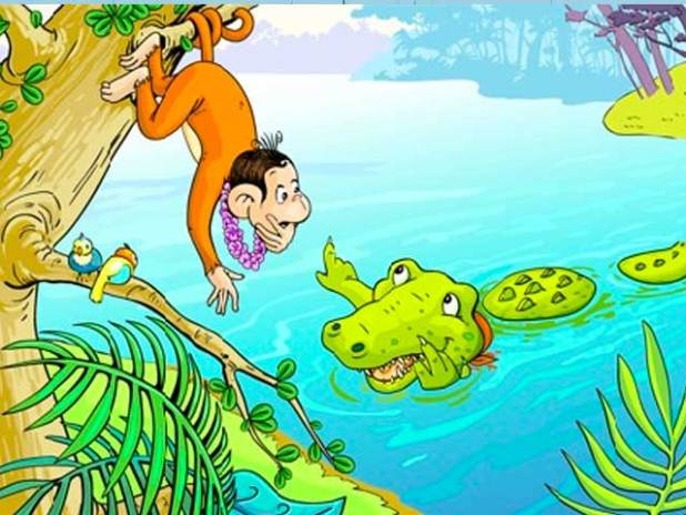 Truyện về các con vật sống trong rừng số 2: Câu chuyện về cá sấu và khỉ