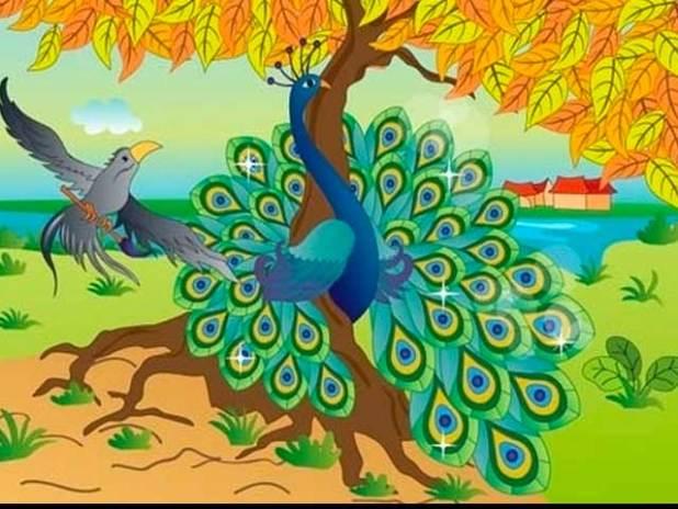 Truyện về các con vật sống trong rừng số 9: Chuyện về con Quạ và con Công