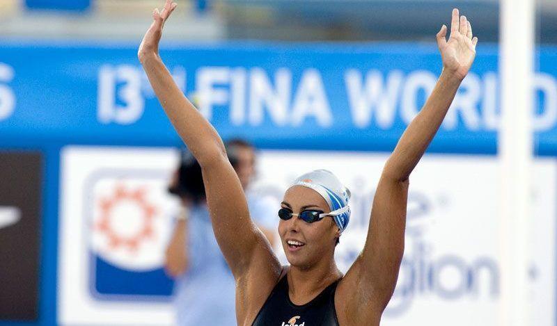 Alessia Filippi ai mondiali di nuoto, roma 2009