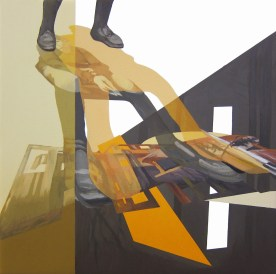 Anna Caruso, acrilico su tela, 25x25cm, 2014