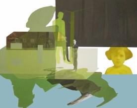 Anna Caruso - La casa sul lago, 2014, acrilico su tela, 70x90 cm