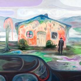Bruno Marrapodi, Siamo rimasti soli,2014,tecnica mista su tela,120 x 120 cm