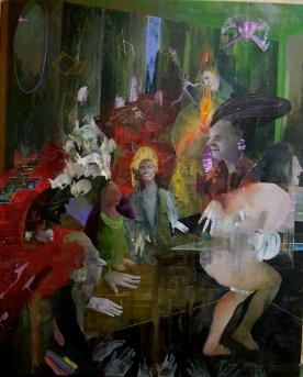 gente perbene e parapsicologia, olio su tela 80x100cm, 2013(2)