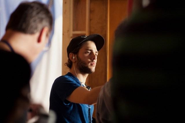 Il regista Xavier Dolan (24 anni) sul set di 'Laurence Anyways'