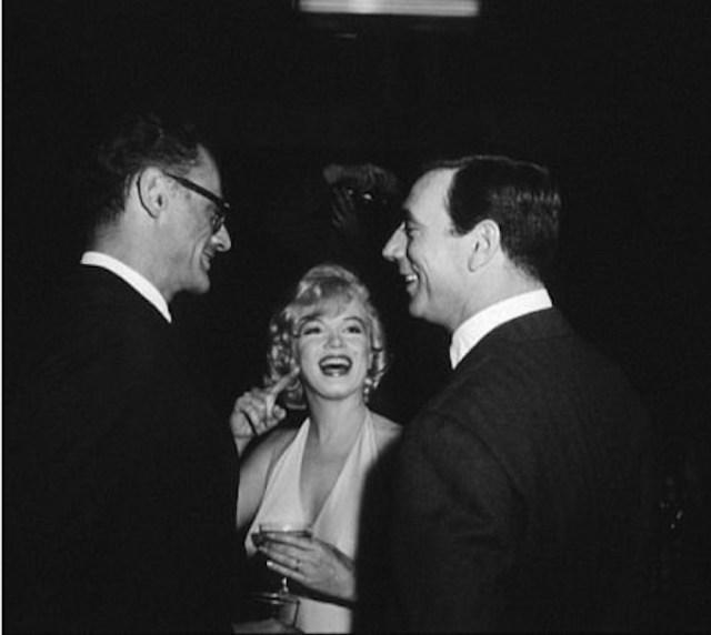 Arthur MIller, Marilyn e Yves Montand alla prima.