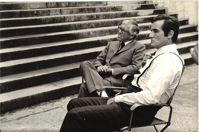 Luciano Salce con Vittorio Gassman