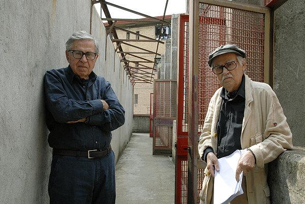 Paolo e Vittorio Taviani sul set di 'Caesar must die', come è stato titolato il loro film nell'area anglofona