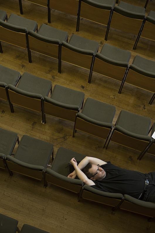 Lars Von Trier sul set (foto Christian Geisnaes)
