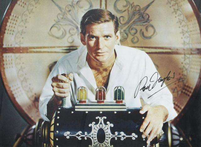 1960 El tiempo en sus manos (Rod Taylor - autografo)