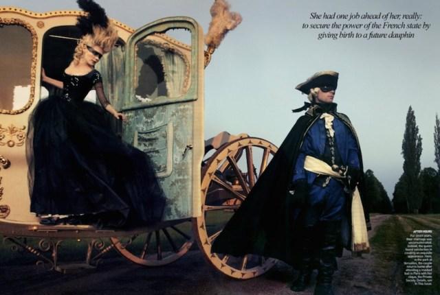 sul set di 'Marie Antoinette' di Sofia Coppola, uno dei più famosi shooting di AL