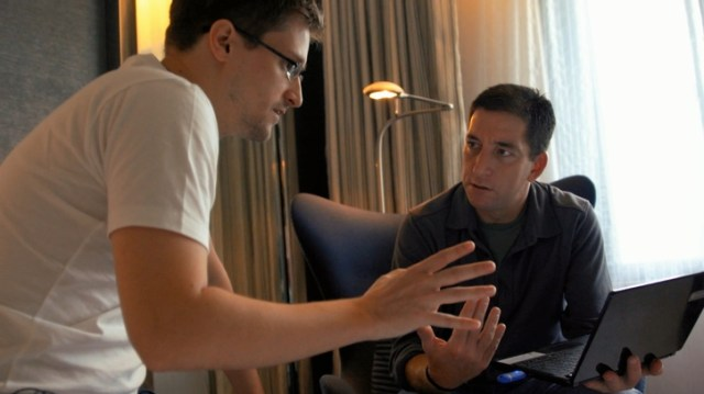 Snowden con il giornalista Glenn Greenwald