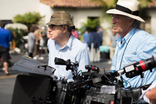 Woody Allen e VIttorio Storaro sul set