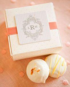 pretty box from Martha Stewart Weddings