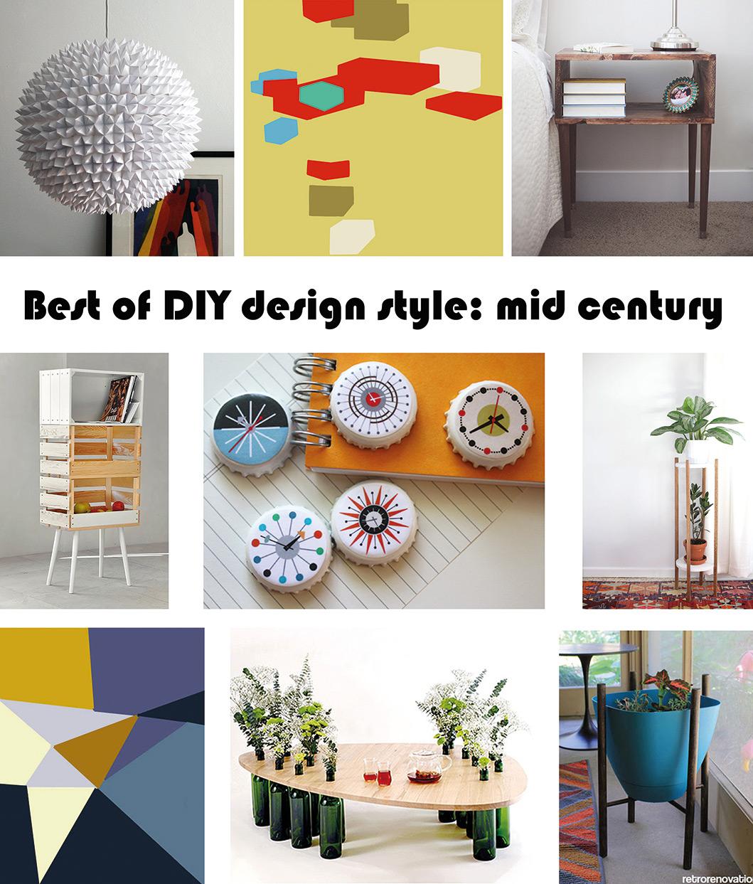Best of DIY design style mid century   Nur noch