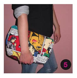 DIY Tasche Clutch Pop Art 2