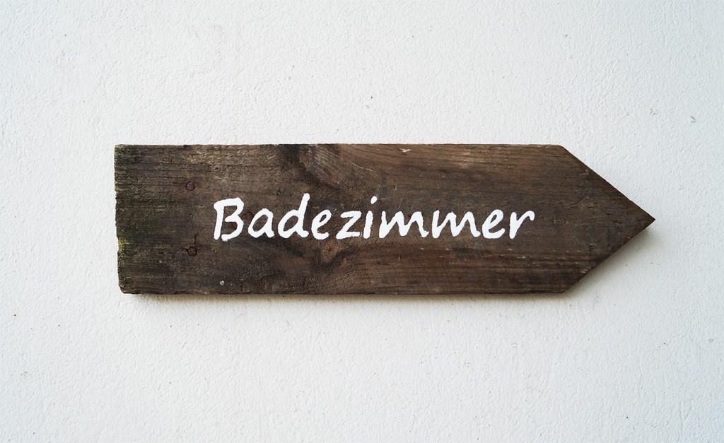 badezimmer Schild 1000