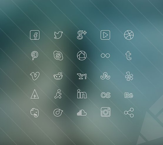 thin icons