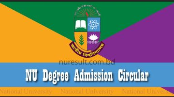 NU Degree Admission Circular
