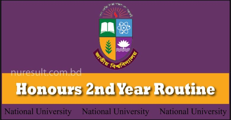 NU Honours 2nd Year Routine