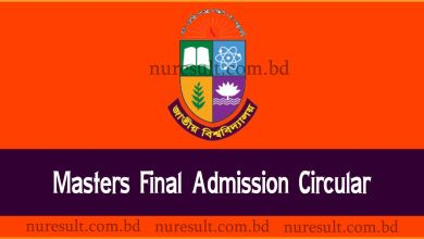 Masters final year admission