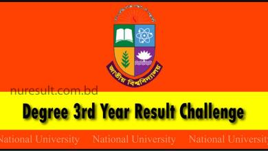 Degree 3rd Year Challenge Result