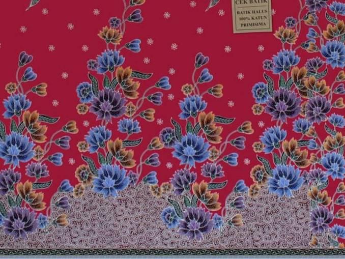 Motif Batik Bunga Anyelir