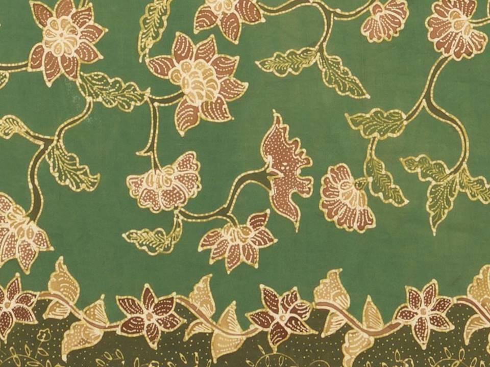 Motif Batik Bunga Krisan