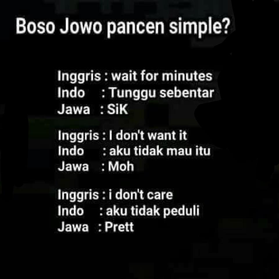 √ 100 Kata Kata Bahasa Jawa Paling Kocak [Cocok Untuk