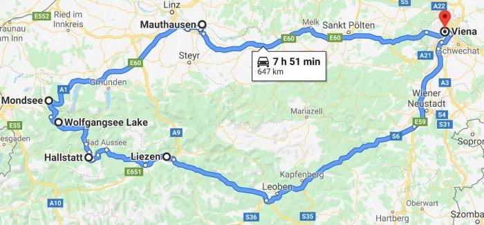 Ruta de Viena a Hallstatt