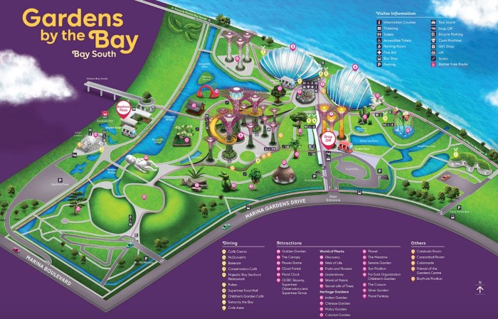 Mapa Gardens by the Bay