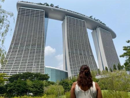 Marina Bay Sands desde Bayfront Plaza