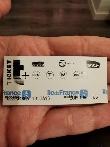 Tarjeta Metro París