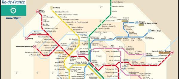 Mapa RER A Paris