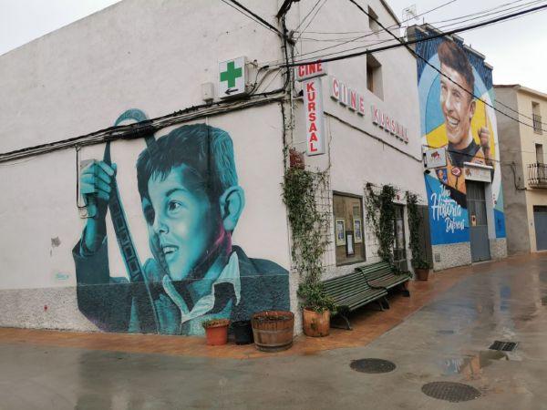 Mural de street art de Marc Marquez en Penellas